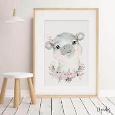 Baby, Girl Nursery Wall Art prints. Safari Jungle Wall art decor. Shower Gift