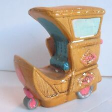 Vintage Atlantic City NJ Boardwalk Rolling Cart Chair Coin Bank Made in Japan 4