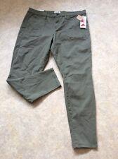 NWT Mudd Utility Skinny Junior Pants Olive Green Size 17