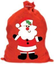 Large Christmas Santa Claus Gift Sack Xmas Fabric Present Bag Red Stocking UK