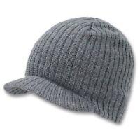 Light Gray Campus Beanie Cap Knit Skully Winter Hat Radar Style Jeep Ski Brimmed
