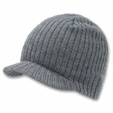 Light Gray Campus Beanie Cap Knit Skully Winter Hat Radar Style Jeep Ski Brimmed