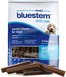 BLUESTEM Dental Chews Medium 21ct