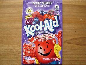 100 BERRY CHERRY Kool Aid Drink Mix