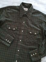 VTG 90s Dee Cee Brand Men's Pearl Snap Distressed Multicolor Western Shirt M