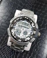 Orologio Polso Joefox Uomo Dual Time Analogico Digitale Sveglia Sport lac