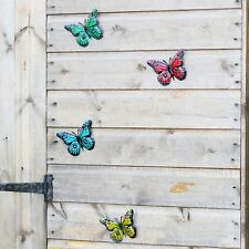 Primus Multi-colour Small Metal Butterflies Box of 12 Garden Ornament Wall Art