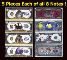 SET USA Fantasy 40 notes 2004, Endangered Species, Dragon, Butterfly, Sea Shell