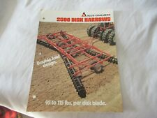 Allis Chalmers 2500 Disk Harrows Brochure
