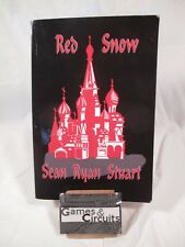 SIGNED!  Red Snow by Sean Ryan Stuart (2009, Paperback), SHIPS SAME DAY - FREE!