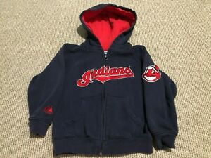 VTG MAJESTIC CLEVELAND INDIANS CHIEF WAHOO HOODIE SWEATSHIRT YOUTH BOYS SMALL