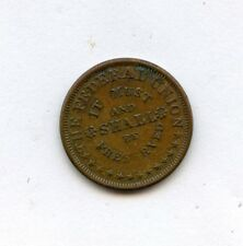 FEDERAL UNION, ARMY AND NAVY COPPER CIVIL WAR TOKEN FULD # 226/321 RARE R4