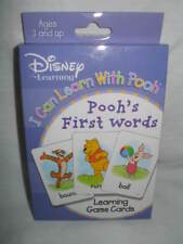 Disney Learning I Can Learn With Pooh Pooh'S First Words Learning Game Cards New