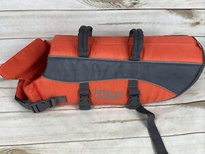 OUTWARD HOUND Raise The Woof Dog Life Jacket Orange Grey One Size