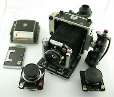 LINHOF Super Technika V 6x7 !! full set 8/65 5,6/100 5,5/180 Super-Rollex etc.