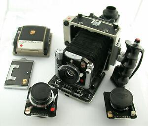 LINHOF Super Technika V 6x7 !! full set 8/65 5,6/100 5,5/180 Super-Rollex etc.