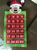 Disney Mickey Mouse Felt Advent Calendar Christmas Holiday Green Red Squares