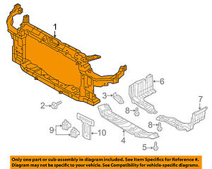 HYUNDAI OEM 14-16 Elantra-Radiator Support Bracket 641013X003