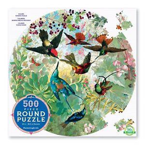Humming Birds 500 Piece Round Puzzle by eeboo