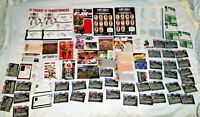 GI JOE Vintage 80s Paper Work 50th FILE CARD LOT Collection Action Figure ARAH