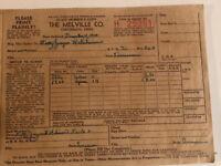 Vintage Melville Company Order Form Invoice Bill Cincinnati Ohio December 1950