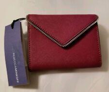 NEW $145 REBECCA MINKOFF Tech Wallet Berry Purple Saffiano Leather Zip Clutch