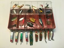 Plastic Tackle Box Full Of Tackle / Lures