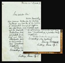 1892 Berlepsch-Valendas Hans Eduard von Handschriftlicher Brief