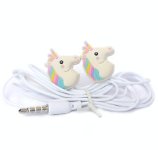 Cute Unicorn Cartoon Earphones Earbuds headphones magical for children 3.5mm