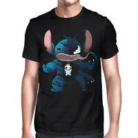 Stitch Venom T-Shirt, Lilo And Stitch Disney Marvel Comics Funny Tee