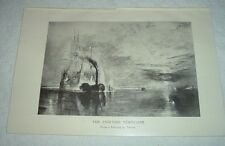 1919 THE FIGHTING TEMERAIRE from painting by J M W Turner Print Trafalgar Battle