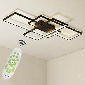 LED Chandelier Light Square Ceiling Lamp 50W Acrylic Modern Black/White/Gold