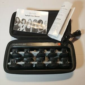 New TopStyler by InStyler Heated Ceramic Styling Shells Hair Curlers & Case