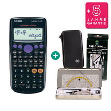Casio FX 82 DE Plus Taschenrechner + Schutztasche GeometrieSet Garantie