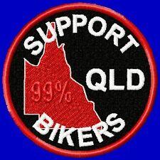 """SUPPORT QLD BIKERS ...""  BIKER PATCH"