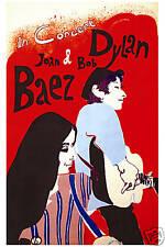 Folk Duo: Bob Dylan & Joan Baez at  New York Concert Poster from 1965