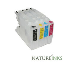 4 Refillable Refill Ink Cartridges to replace Brother LC-1220 LC-1240 LC-1280