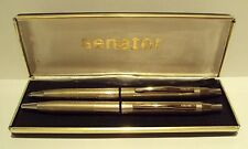 "VINTAGE BEAUTIFUL GERMANY""SENATOR""BALLPOINT PEN AND PENCIL STAINLESS STEEL # 634"