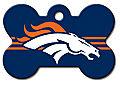 DENVER BRONCO NFL PERSONALIZED PET ID TAG
