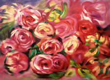 FLORAL IMPRESSIONISM Oil Painting - Large 131x91cm canvas