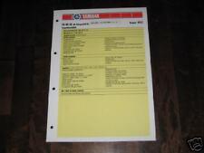 Inspektionsblatt Yamaha FS 80 SE