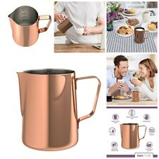 Stainless Steel Milk Jug  Frothing Pitcher With Practical Scale Coffee Latte New