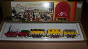 "TRIX ""DER ADLER"" - FIRST GERMAN PASSENGER TRAIN 1835, FOUR PART SET"