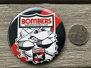 Original VFL 80s Essendon Large 9cm Mascot Badge - Mint
