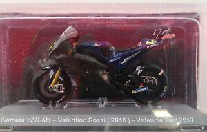 Yamaha YZR-M1 Valentino Rossi 2018 Valencia Test 2017 1/18 Colección MotoGP