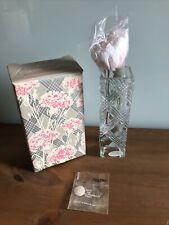 Avon Fostoria Crystal Bud Vase And Scented Carnation Nib