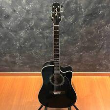 Takamine EF341 Black Cutaway Acoustic Guitar