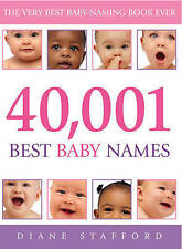 40,001 Best Baby Names, Stafford, Diane Paperback Book