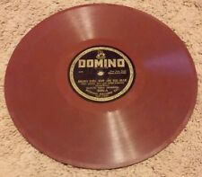 Domino Records Fox Trot RED VINYL BROWN EYES, WHY ARE YOU BLUE & DID YOU FORGET