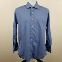 Peter Millar Men's Blue Striped L/S Casual Dress Button Shirt Sz Medium M